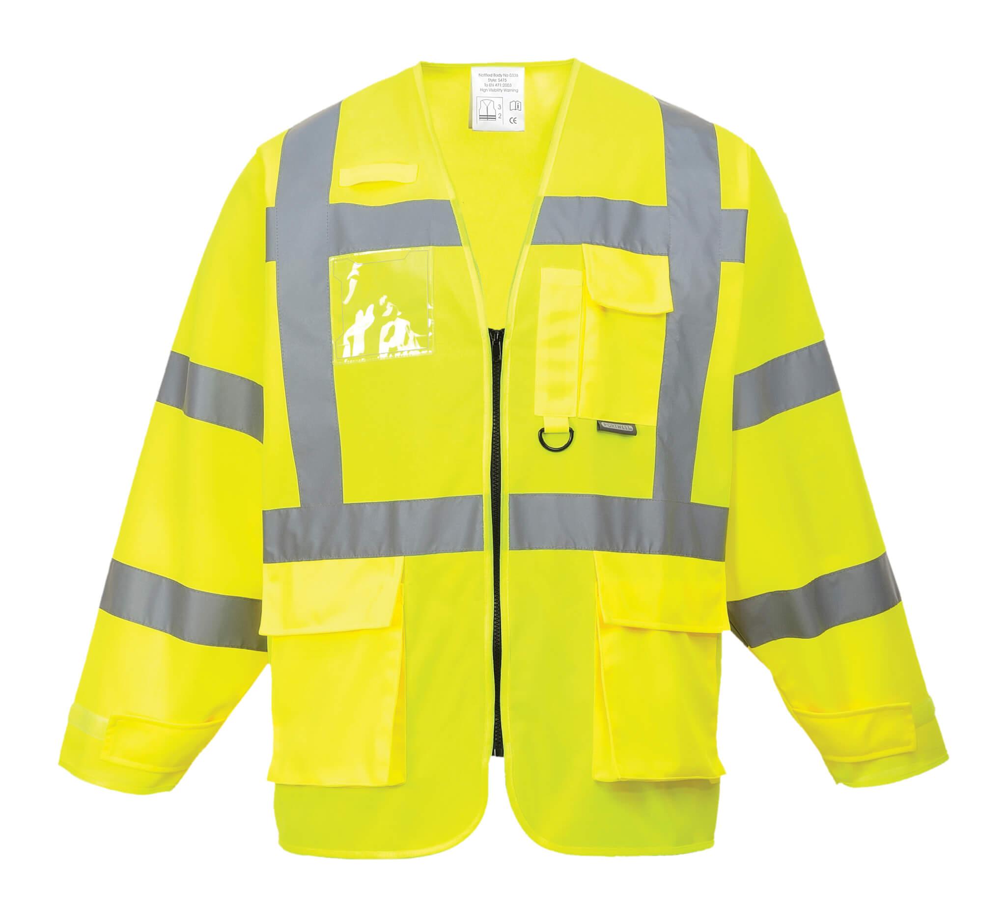 Főoldal Munkaruha Jólláthatósági ruházat Láthatósági mellény PORTWEST Jól  láthatósági fluo sárga vezetői dzseki.    b041e0af7e