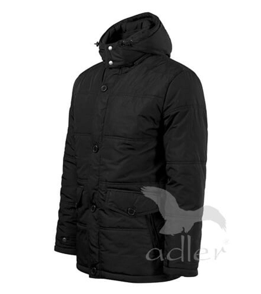 a996c85d14 ADLER Nordic férfi bélelt kabát fekete | Védőfelszerelések.hu