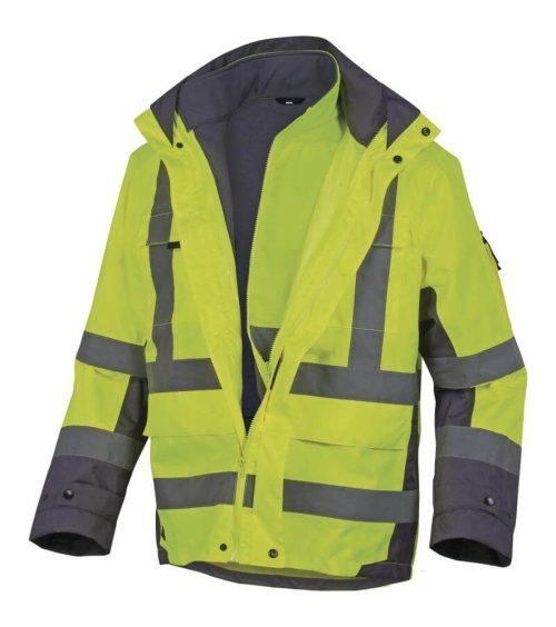DELTA PLUS Tarmac sárga láthatósági 4 az 1-ben kabát softshell dzseki  belsővel 4c4ba98ab9