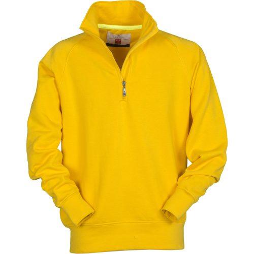Payper ferfi felzipzaros pulover Miami sarga