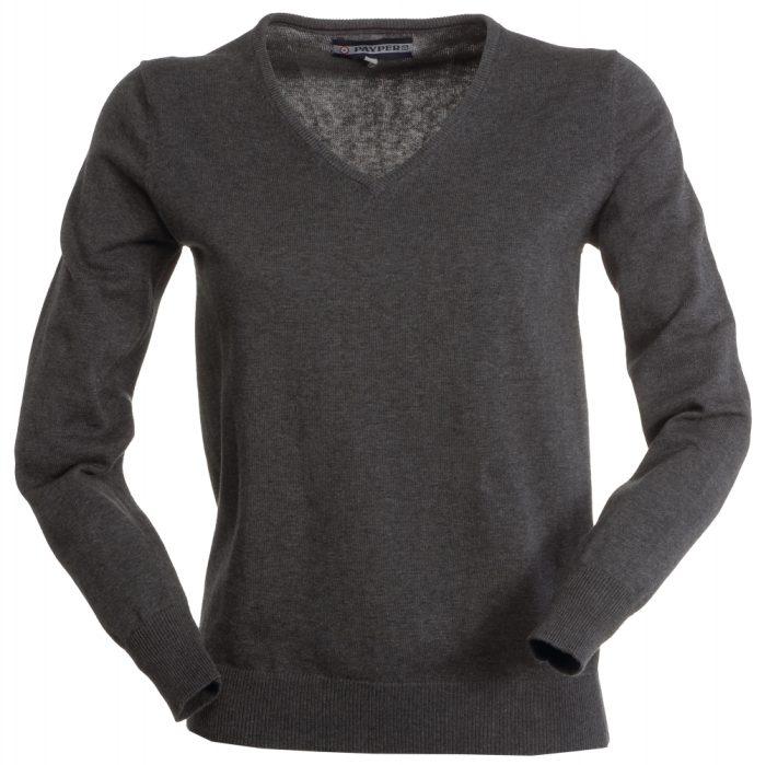 Payper noi V nyaku pulover Business szurke