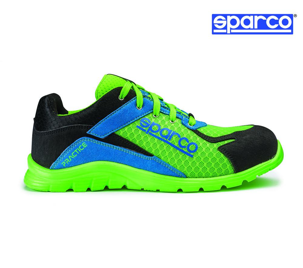 b757d479feab Sparco Practice munkavédelmi cipő S1P (fluozöld-azúrkék ...